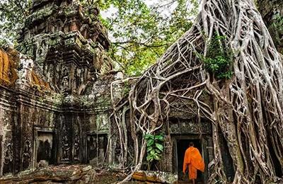 Angkor Wat Bayon Tomb Raider By Bike